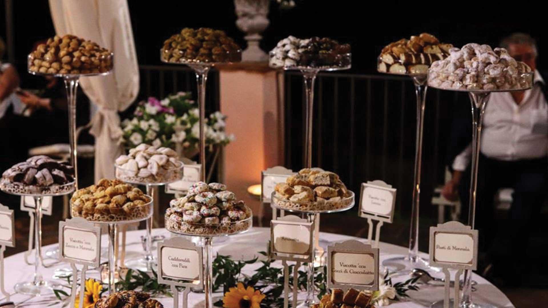 buffet di dolci - location matrimoni La casa del grecale