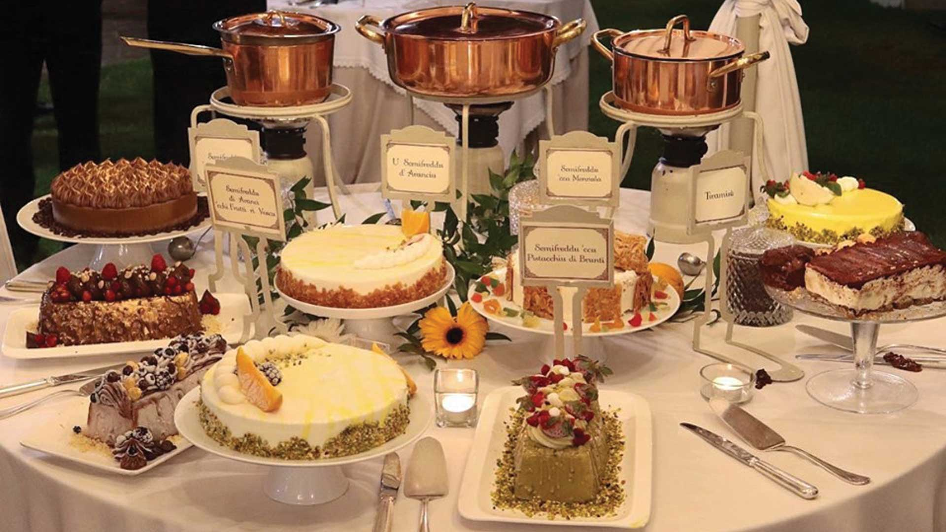buffet di dolci - sala ricevimenti La casa del grecale